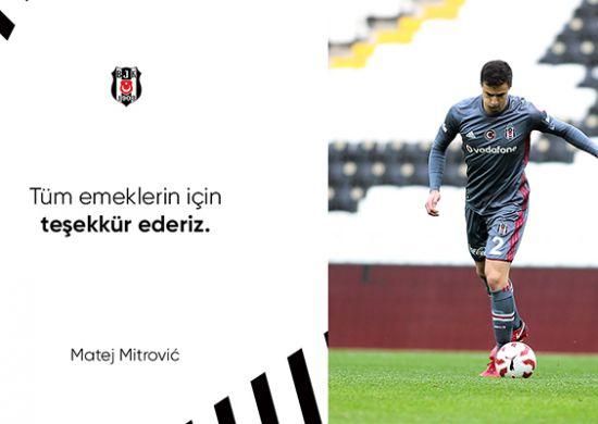 Beşiktaş'tan Matej Mitrovic'e teşekkür mesajı