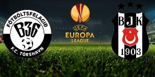Torshavn - Beşiktaş maçı hangi kanalda, saat kaçta?