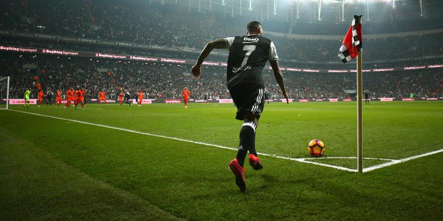 İşte o an! Quaresma Beşiktaş'ı sırtlıyor