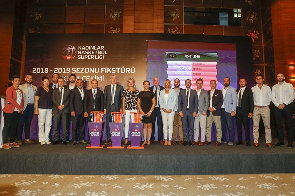 Kadınlar Basketbol Süper Ligi'nde fikstür çekildi! Beşiktaş sezonu derbiyle açacak...