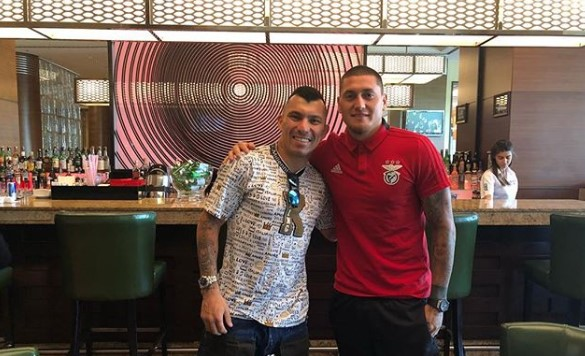 Medel, Benficalı Castillo ile bir araya geldi