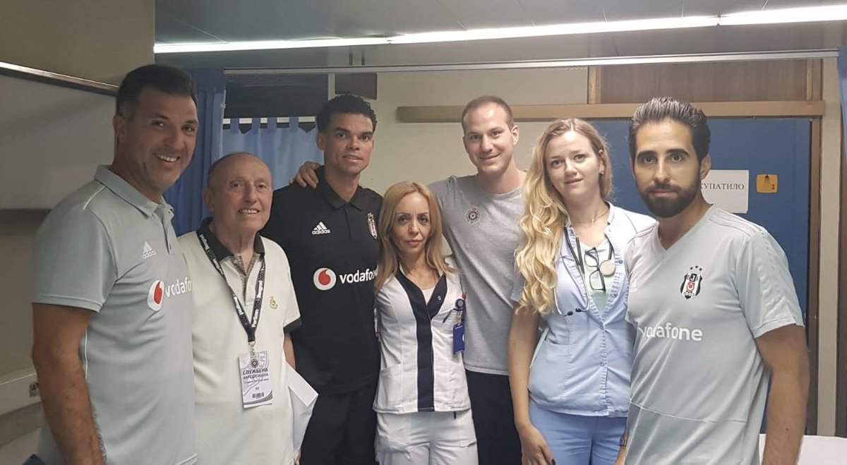 Pepe'den, Beşiktaş ve Partizan sağlık ekibine teşekkür mesajı
