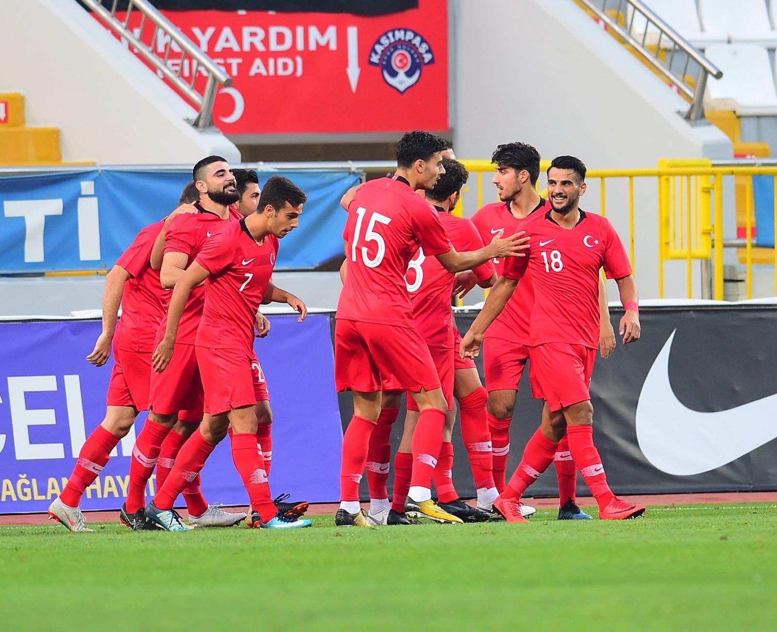 Türkiye U21 Takımından galibiyet! Orkan Çınar'dan 2 gol...