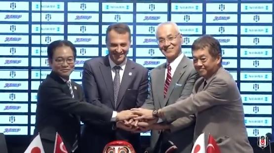 Beşiktaş'tan yeni sponsor Mainichi'ye teşekkür videosu