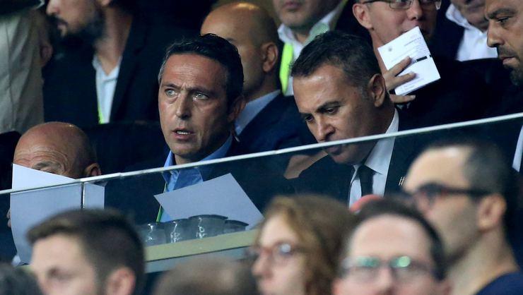 """""""Ali Koç ile Fikret Orman'ın yan yana, kol kola maçı izlemeleri..."""""""