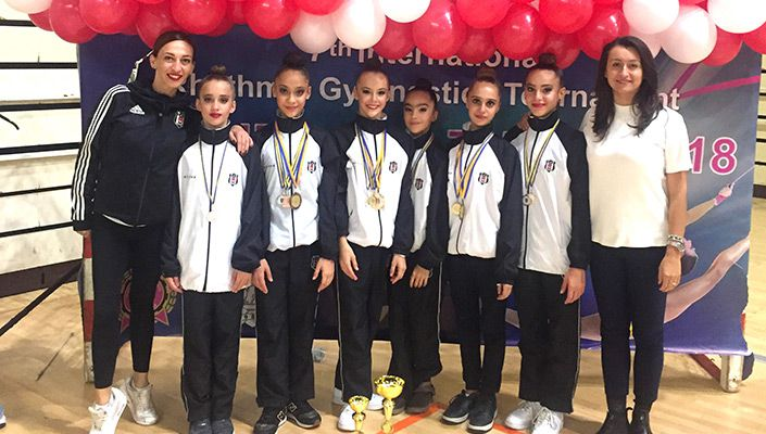 Beşiktaş'ın jimnastikçilerinden 5 birincilik birden!