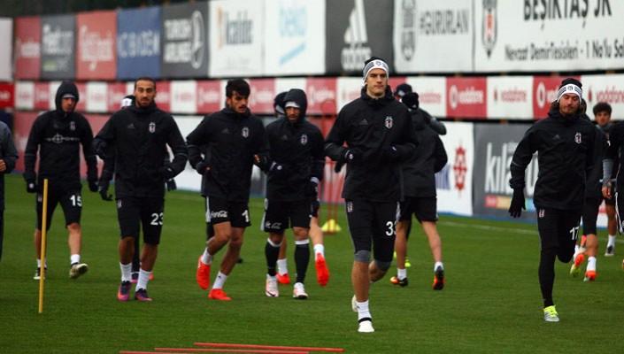 Beşiktaş'ın bugünkü derbi maç antrenmanından notlar