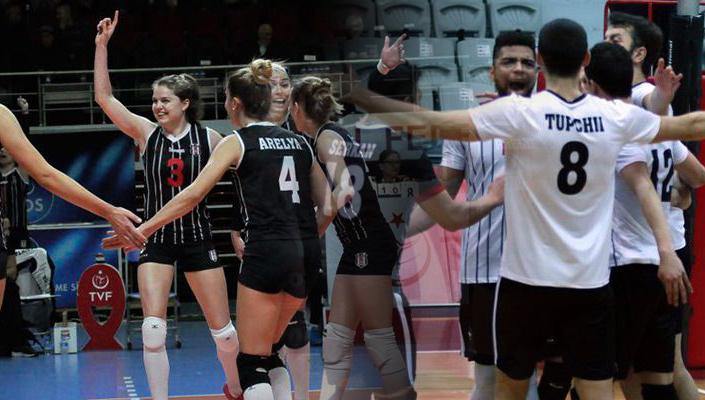 Beşiktaş'ın Kadın ve Erkek voleybol takımları ligde galip!