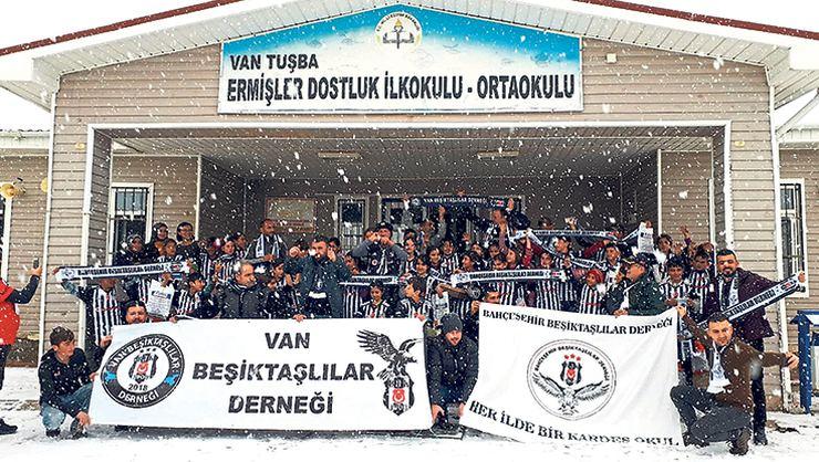 Beşiktaş derneğinden Van'a yardım