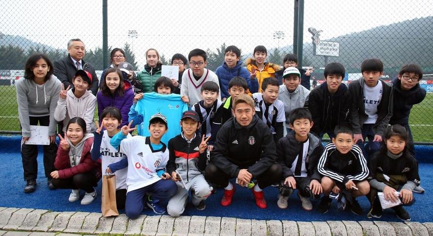 Beşiktaş antrenmanına Japon misafirler