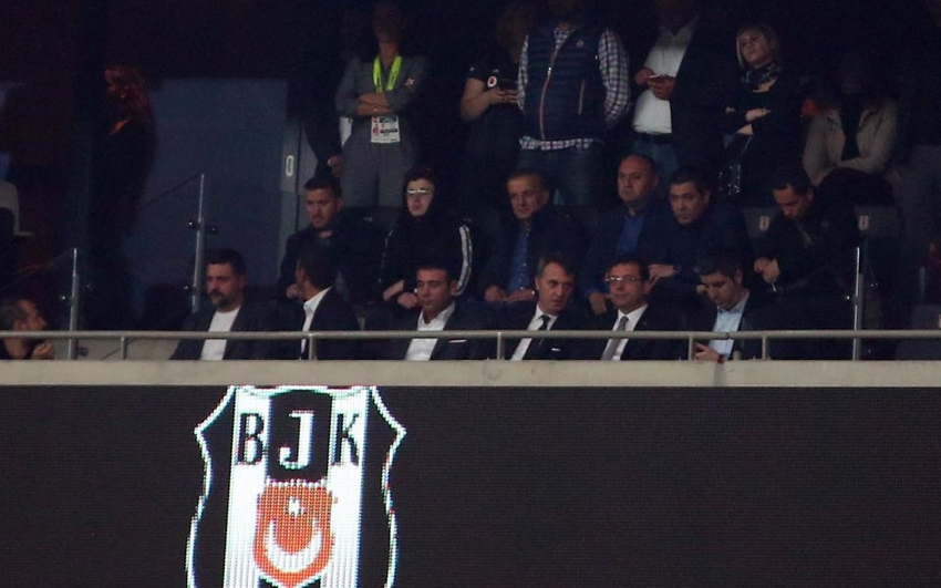 """Ekrem İmamoğlu, Vodafone Park'taydı! Tribünlerden """"Mazbatayı ver"""" tezahüratı (VİDEO)"""