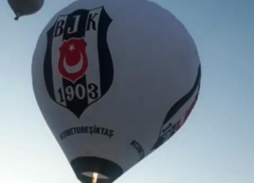 Beşiktaş balonu gökyüzünde! (VİDEO)