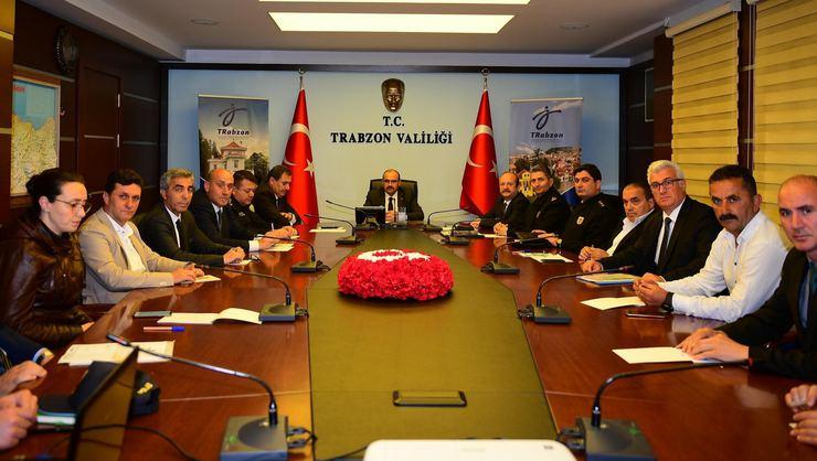 Trabzonspor - Beşiktaş maçı öncesi İl Spor Güvenlik toplantısı yaplıdı
