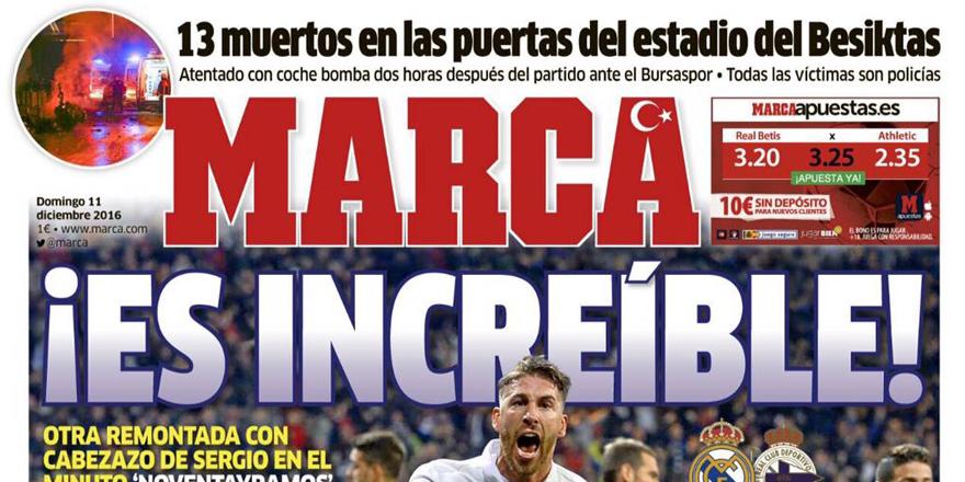 İspanyol spor gazetesi logosuna Türk Bayrağı koydu