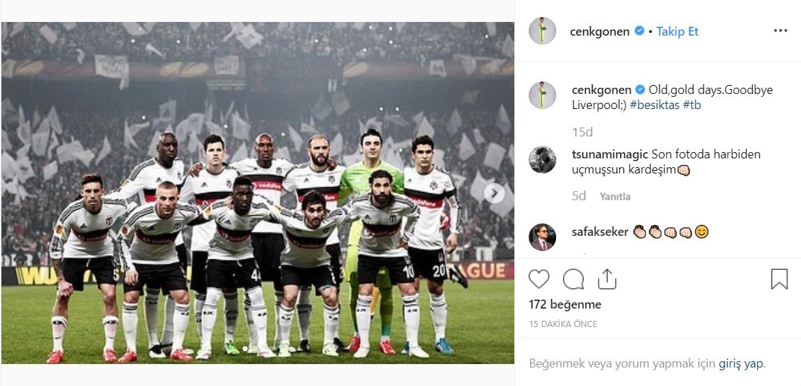 Cenk Gönen'den Beşiktaş paylaşımı!