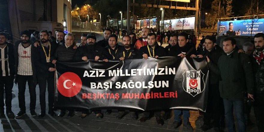 Beşiktaş muhabirleri şehitleri böyle andı!