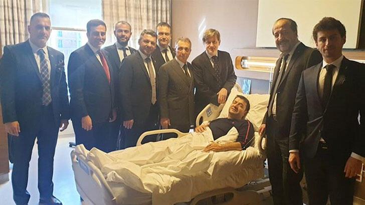 Çebi'den ameliyat edilen yönetici Torunoğulları'na ziyaret