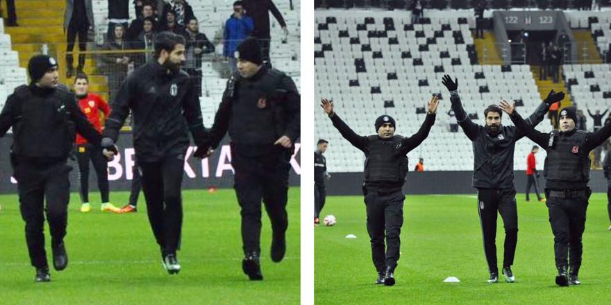 Maç öncesi üçlüyü polisler çekti