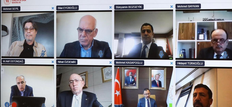 Gençlik ve Spor Bakanlığı'nın yaptığı video konferans sona erdi