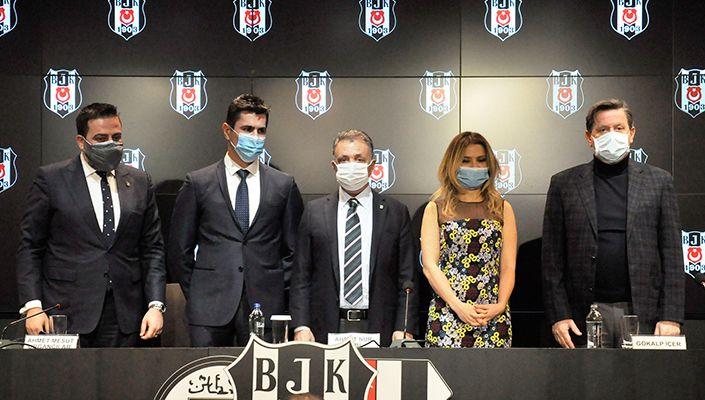 Beşiktaş, yeni sponsor Icrypex için basın toplantısı düzenledi