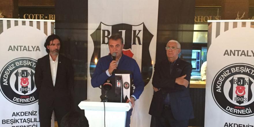Başkan Orman, Antalyalı Beşiktaşlılarla buluştu