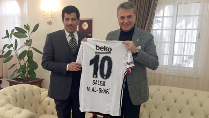 Fikret Orman, Katar Büyükelçisi'ni ziyaret etti