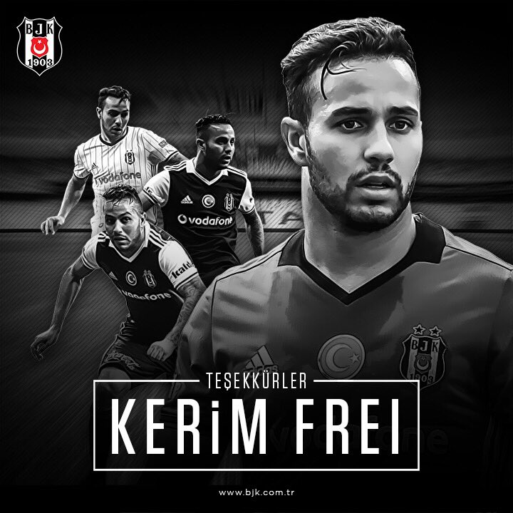 Beşiktaş'tan Kerim Frei'a teşekkür