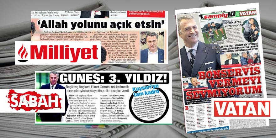 Ajans Beşiktaş'ın ses getiren röportajı gazetelerde!