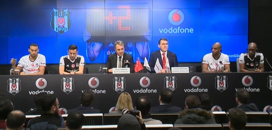 """Forma 2 sezon daha Vodafone'un! Fikret Orman: """"Nice başarılara imza atacağız"""""""
