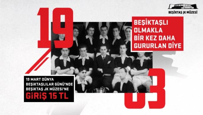 Dünya Beşiktaşlılar Günü'nde Beşiktaş Müzesi indirimli