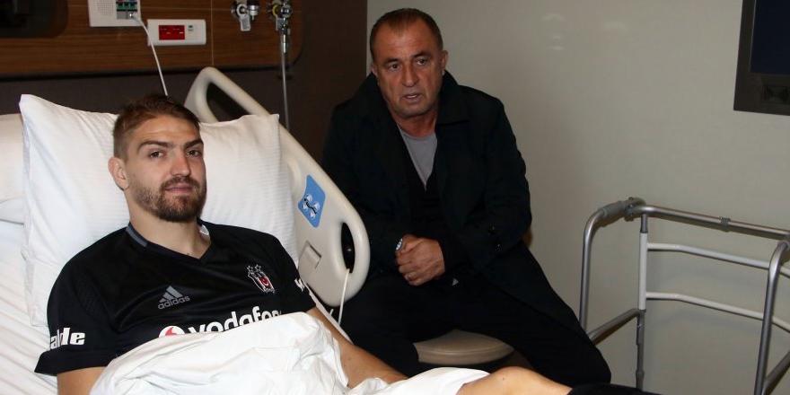 Fatih Terim'den Caner Erkin'e ziyaret
