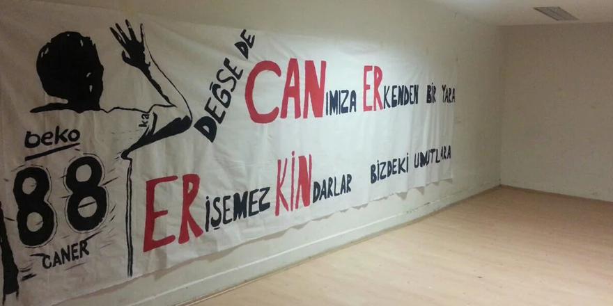 Ankara'da Caner'e özel pankart