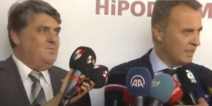 Herşeyini Beşiktaş'a bağışlayan Şevket Belgin adına kupayı Fikret Orman verdi