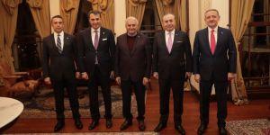 Fikret Orman ve 3 başkan, Binali Yıldırım'la buluştu