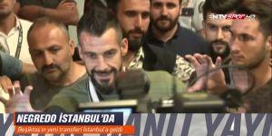 Beşiktaşlı taraftarlar Negredo'yu işte böyle karşıladı!