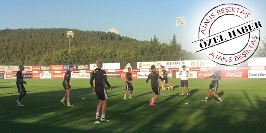 Beşiktaş, Kayserispor maçı antremanlarına devam ediyor