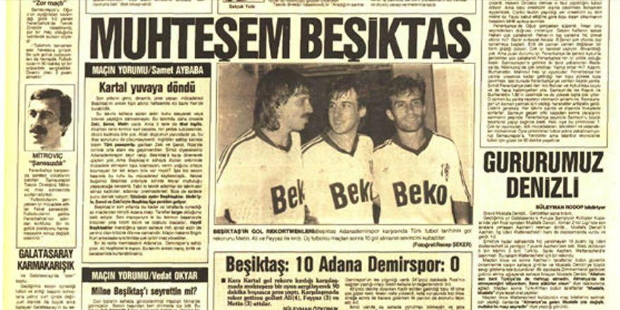 TARİHTE BUGÜN | Beşiktaş-Adanademirspor maçı: 10-0